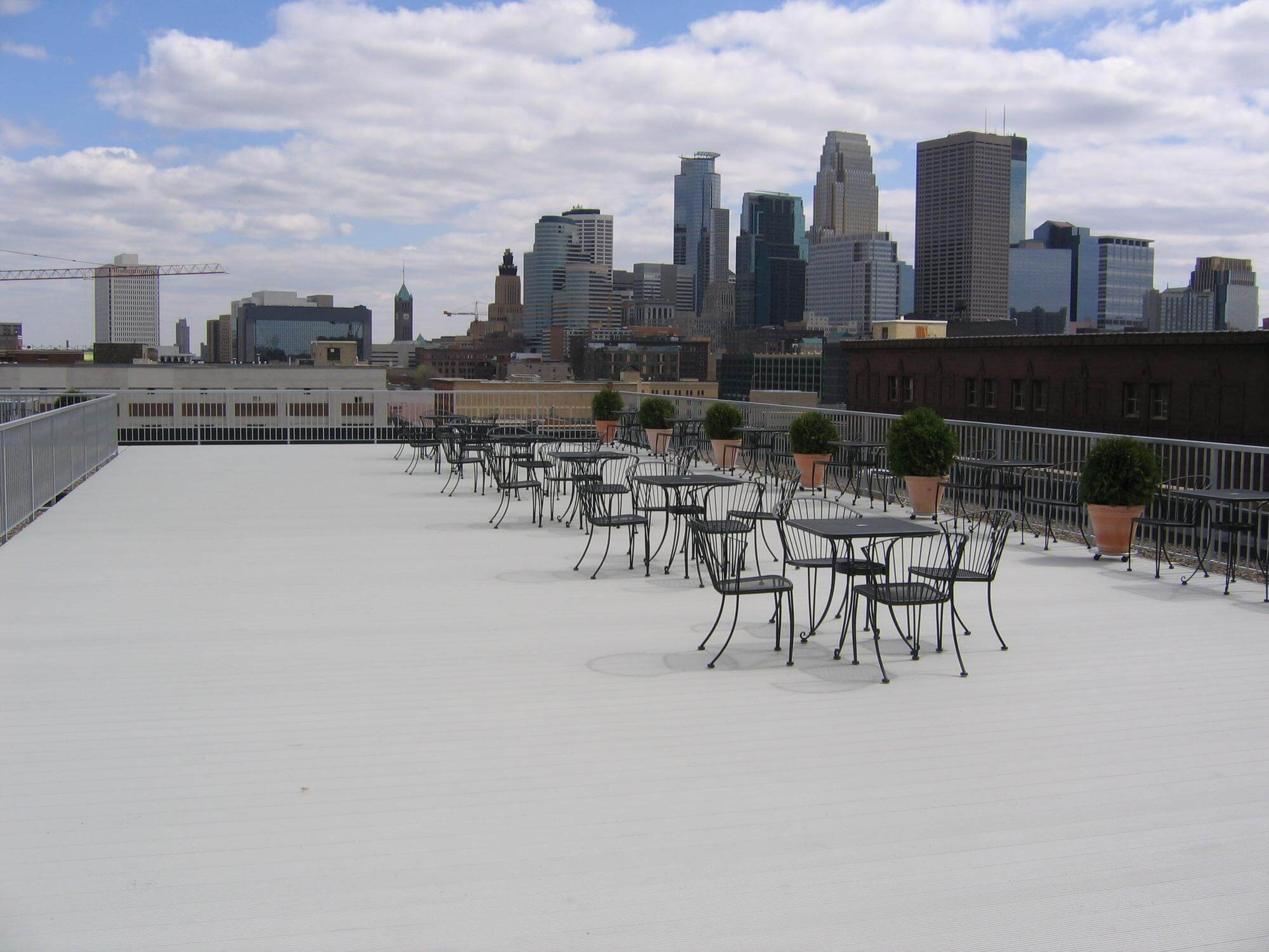 ariddek aluminum roof decking for rooftop applications like this deck on roof