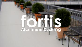 fortis aluminum decking surface - interlocking decking small image