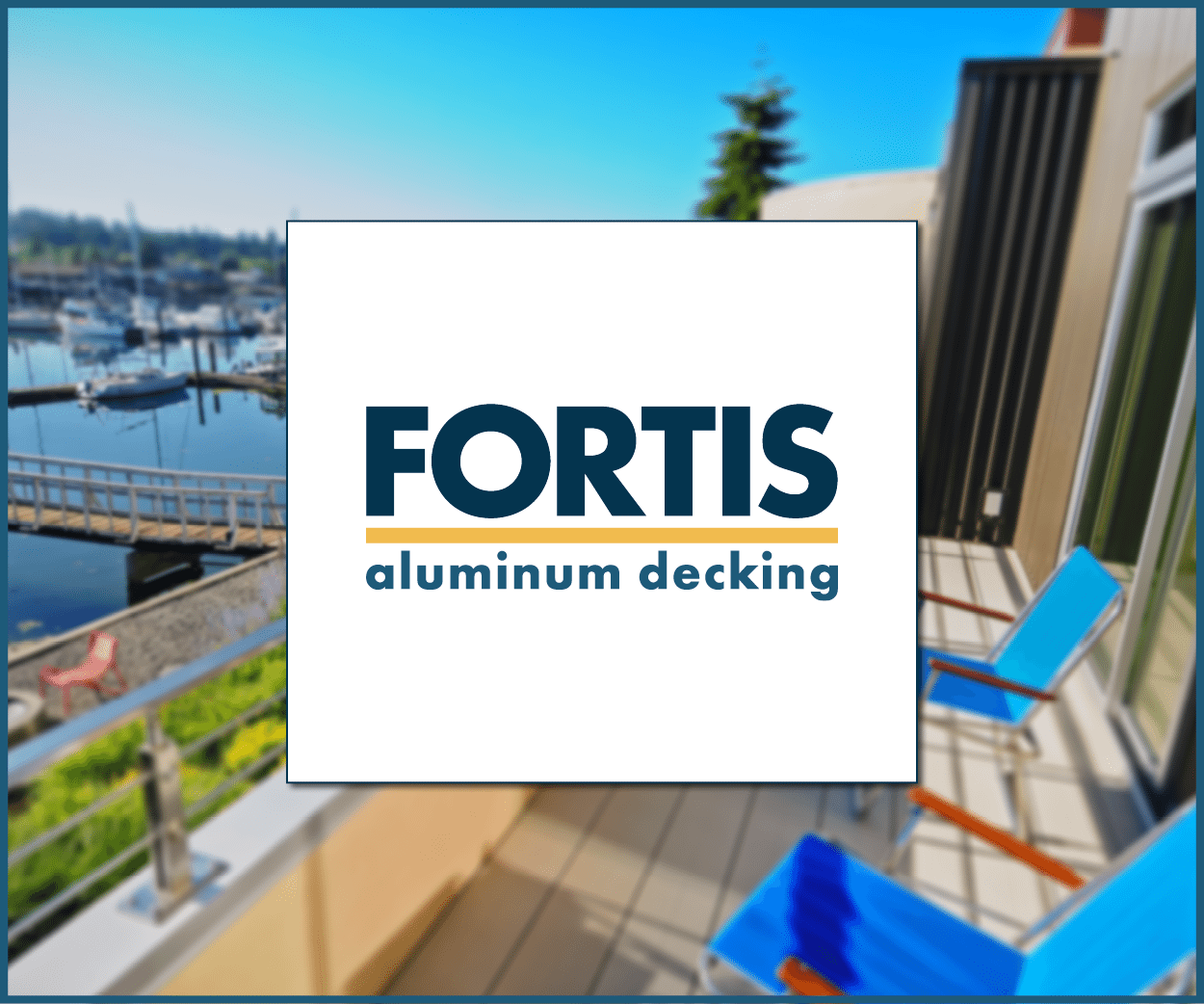 Fortis Aluminum decking - interlocking deck board system