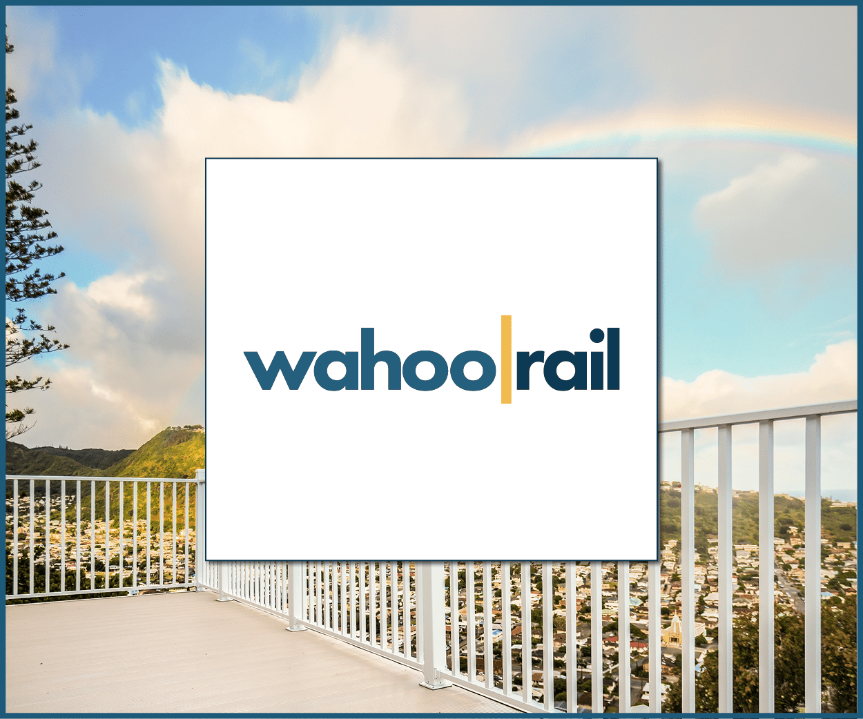 Wahoo rail aluminum deck railing system - glass railing option