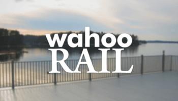 Wahoo deck railing glass deck railing