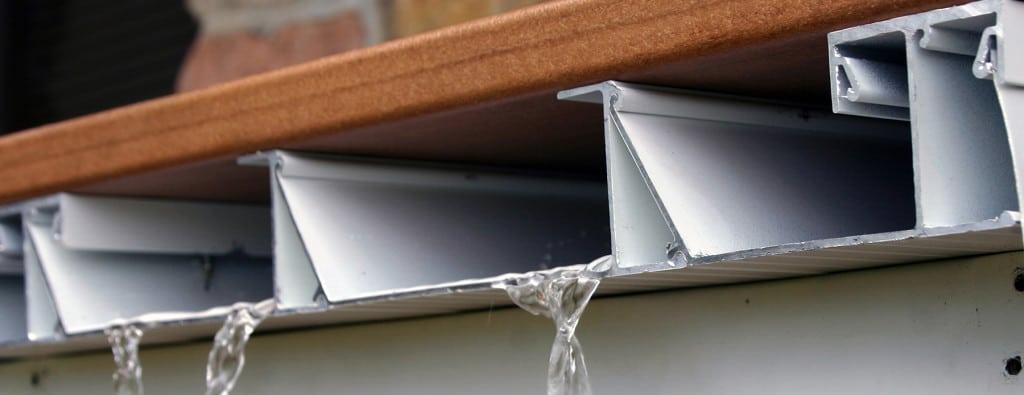 Aluminum Deck Drainage System Dryjoistez Waterproof Decking