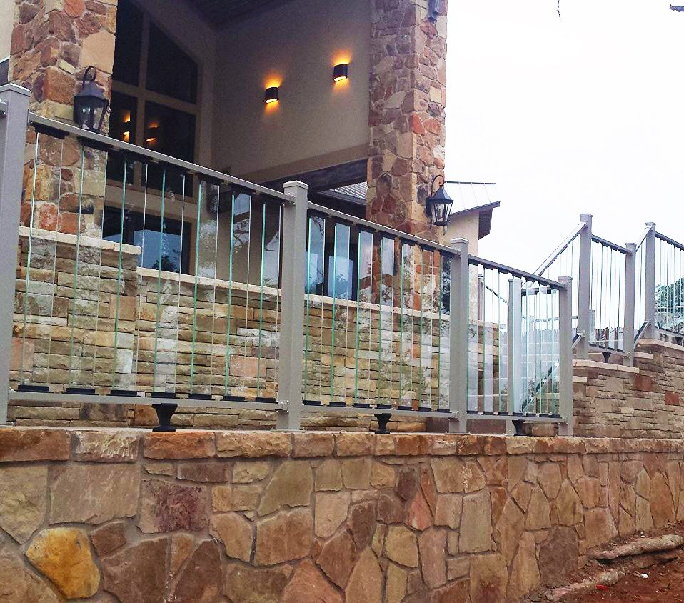 Glass Staircase Balustrade Kit: Decking Railing With Tinted Glass