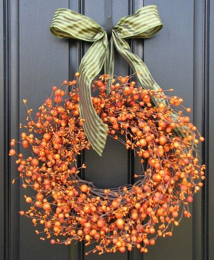 fall wreath deck design ideas