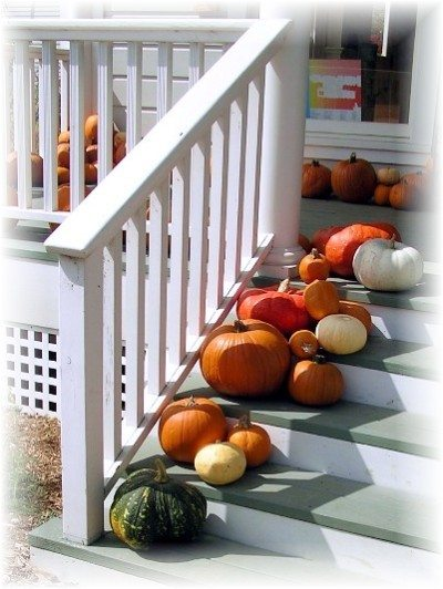 pumpkins on deck design ideas