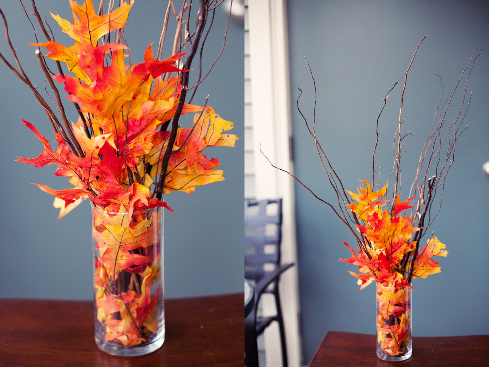 fall vases for decks decorating
