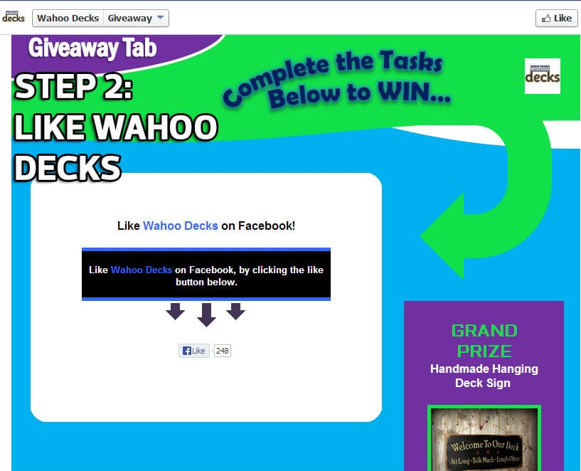 giveaway page