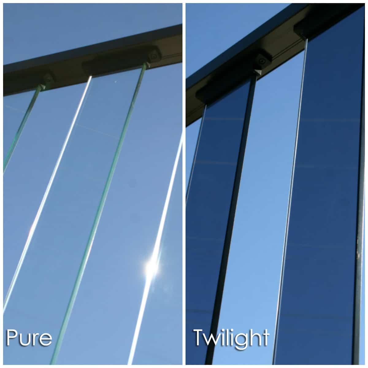 wahoo rail - glass panel deck railing composite image