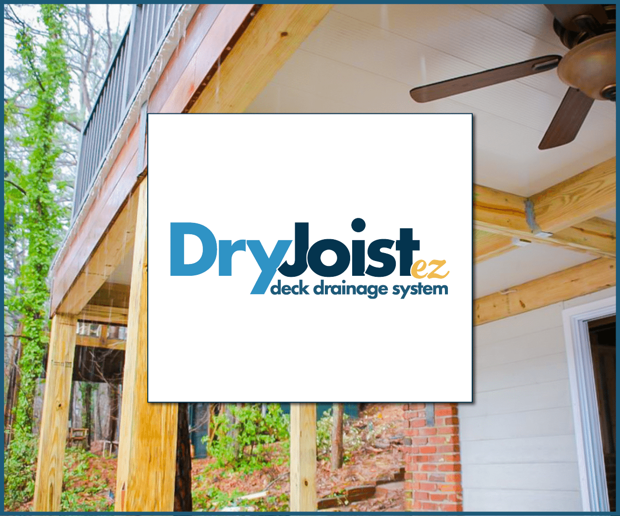 DryJoist EZ waterproof aluminum decking system square logo
