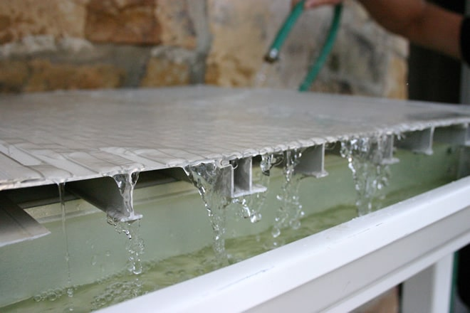 AridDek watertight aluminum decking boards