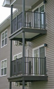 Wahoo Complete multifamily aluminum balcony system