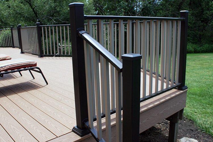 Aluminium Railing Systems : Nice aluminum deck railing home design