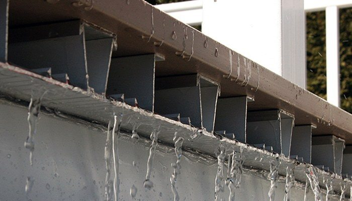 Deck framing drainage and waterproofing options