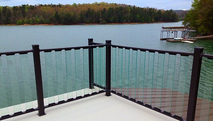 Wahoo glass rail deck railing system decks