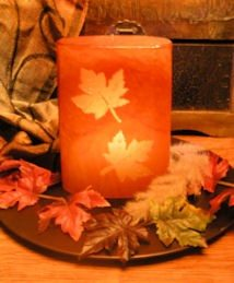 fall candle for autumn - deck decorating tips
